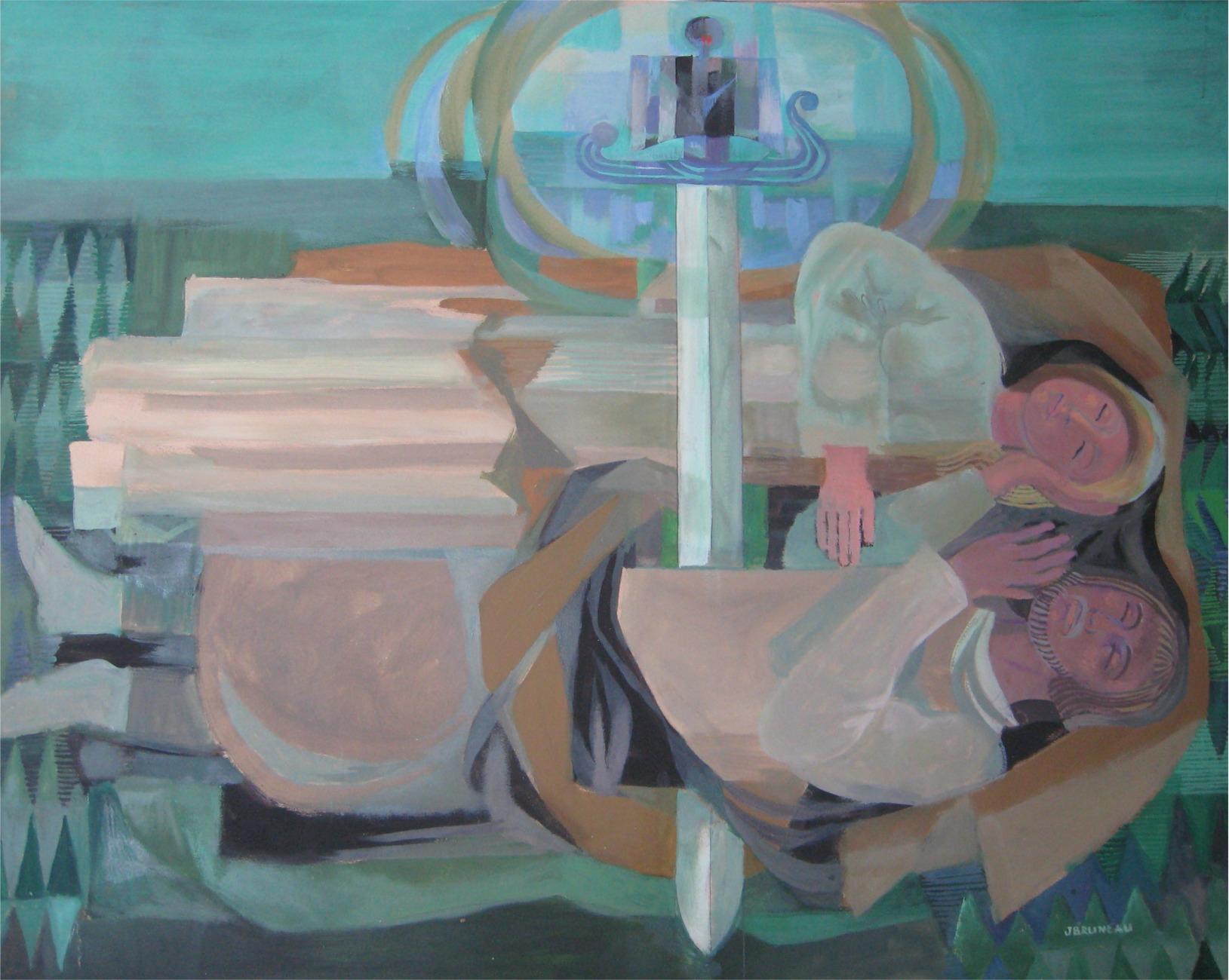 02 les chevaliers de la table ronde le site officiel de jean bruneau artiste peintre nantais. Black Bedroom Furniture Sets. Home Design Ideas